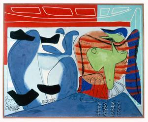 """""""I Was Dreaming"""", målning av Le Corbusier utförd 1953."""