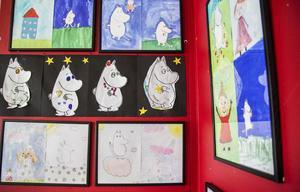 Elever från Västra skolan har gjort konst inspirerat av Tove Jansson.