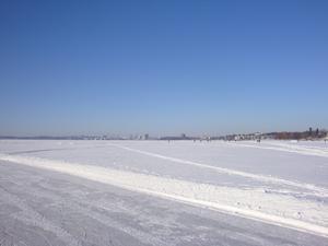 Se så vackert Västerås är en strålande vinterdag.