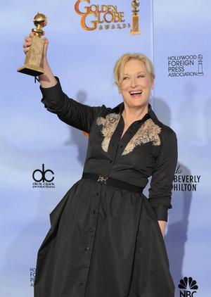 """Meryl Streep plockade hem en Golden Globe för rollen i """"The Íron Lady"""", där hon spelar förre brittiske premiärministern Margaret Thatcher."""