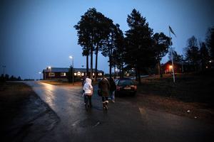 Flyktingförläggningen i Grytan, strax utanför Brunflo.
