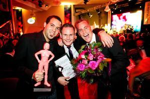Nordic Peak AB prisades två gånger under kvällen. Förutom att Robert Olofsson belönades med en IT-skvader fick han, Jonatan Sikström och Mattias Hallin också priset för Årets nyföretagare.