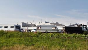 Så här såg det ut när kringresande asfaltläggare besökte Södertälje för sex år sedan.