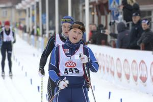 Andrea Wickbom Sävast Ski Team förberedde sig för Vasaloppet med att vara första dam i Halvvasan.