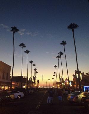 Södra Kaliforniens kuststäder har en skön, avslappnad vide med låga byggnader och vajande palmer.   Foto: Emeli Emanuelson