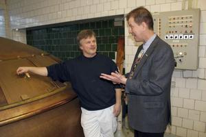 Både Roger Östh och Kopparbergs vd Peter Bronsman hoppas mycket på deltagandet i ölfestivalen i England.