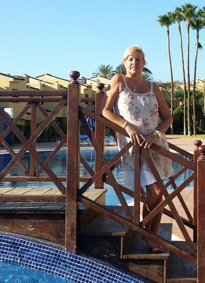 Zhandra Hammarlund flyttade från Gran Canarias provinshuvudstad Las Palmas 2014 och bor numera i det nya turistparadiset Meloneras.