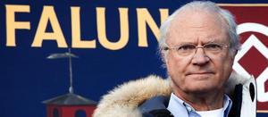 Kung Carl Gustaf kan man se i Falun på onsdag.