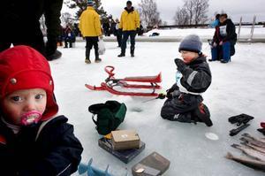 Alexander Cederberg, 5 år, visade sig vara en riktig storfiskare. Många priser blev det. Foto: Håkan Luthman