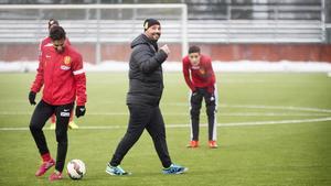 Bosko Orovic under ett träningspass.