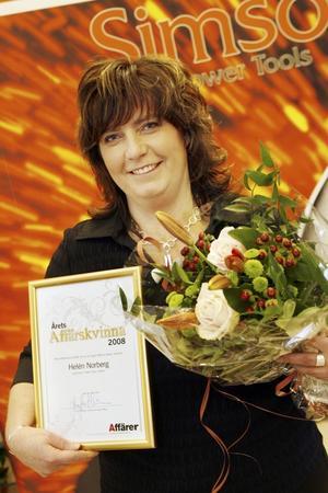 Helén Norberg har röstats fram till Årets affärskvinna.