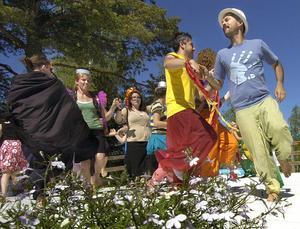 Den internationella dansgruppen Caravan into the wild hade fått lära sig dansa schottis och var först ut under Dansforum med att visa vad de lärt sig.