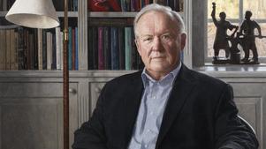 Årets hedersporträtt med Göran Persson som motiv. Beskuren bild. Pressbild.