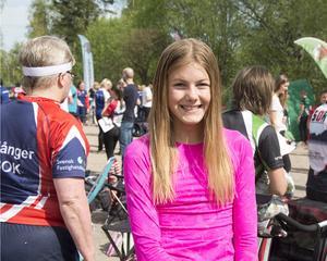Frida Viström tog hem segern i medeldistansen på söndagen.