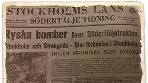 I dag är det 72 år sedan Sovjetunionen bombade Södertälje.