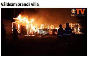 Branden startade kvällen den 7 november och hade ett mycket snabbt förlopp.