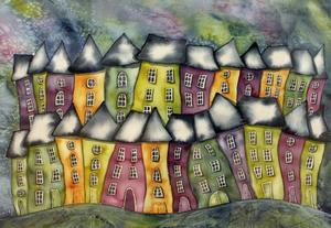 Målning av Marianne Sandqvist.