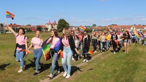 I morgon kommer det återigen att bli en vandring från Saxnäs till Tingshusparken. Bilden är från premiären för tre år sedan.