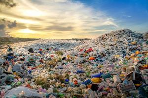 Ön Thilafushi och dess avfall är ett miljöproblem. Foto:
