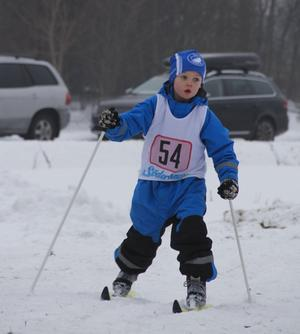 Oliver Ekmark gjorde bra i från sig i Östansjö olympiska på söndagen.