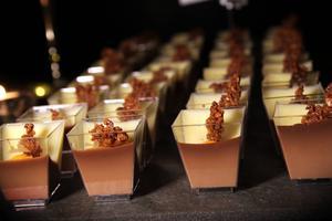 Chokladpannacotta var ett av 12 bakverk besökarna på chokladprovningen fick smaka.