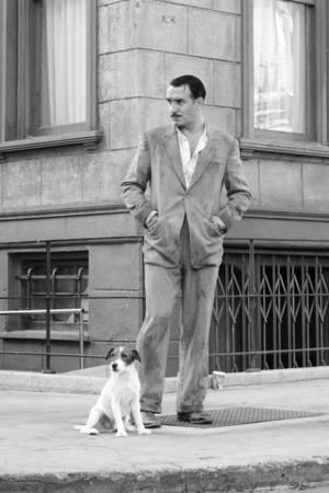 Jean Dujardin med hunden Uggie, vinnare av