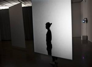 Videokonstverk.  I Fredrik Austers och Viggo Mörcks performance och installation medverkar Emma Kim Hagdahl. Hon rör sig i en loop till videoprojektioner på transparenta skärmar.