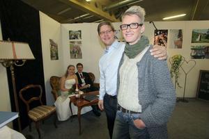 Johan Rytters och Britta Käller informerade besökarna om vad Järvsöbröllop har att erbjuda den som går i giftastankar.