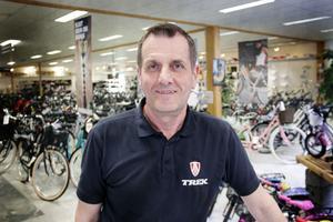 Hans-Göran Öberg, cykelförsäljare i Gävle.