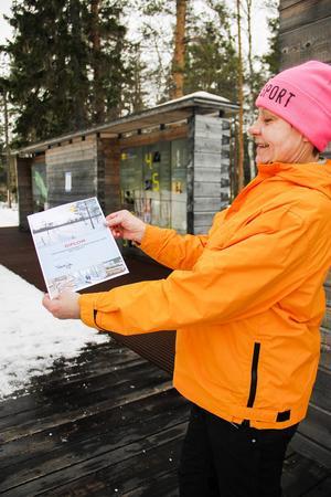 Alla som ville fick ett diplom efter skidåkningen. Vanja Isaksson var nöjd med sin dag.