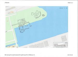 Skiss enligt Hans Wahlström och Peter Hanssons förslag för Nyhamn. Parkering för husbilar finns även med i planeringen för gästhamnen på Södra Skeppsbron.