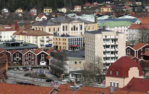 En översiktsbild över Hudiksvalls centrum som det såg ut för några år sedan.