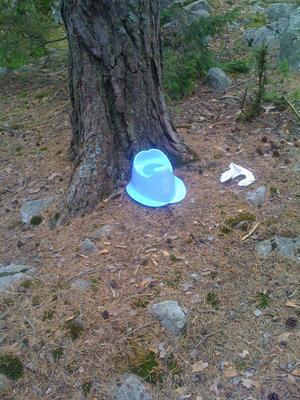 Tog en sväng i skogen..och där stod den =o)