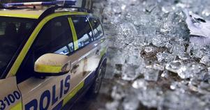 Portglaset på en ruta har krossats på Kapellgatan i Arboga.