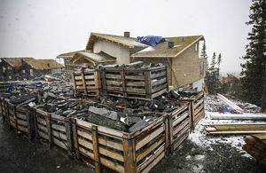 Bygget av Zlatans hus pågår för fullt och ska vara klart i början av nästa år.