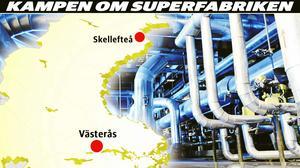 Northvolts batterifabrik till Västerås eller Skellefteå? Eller delas mellan båda städerna.