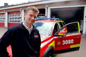 28-årige Johan Szymanski är ny brandchef i Mora.