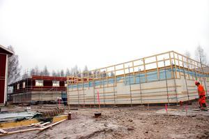 I Tingsnäs byggs två huskroppar, som ska bli nya studentbostäder.