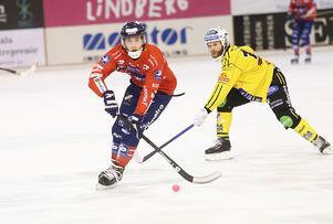 Tuomas Määttä under kvartsfinalserien mot Broberg som Edsbyn vann med 3–1 i matcher.