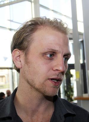 Jon Santesson från arrangören Drivhuset, en stiftelse som arbetar för att förena den akademiska världen med företagande.