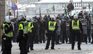 Beredskapspolis skulle kunna tas in vid demonstrationer.