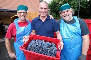 I vinfabrikens laboratorium jobbar Per Hallgren med kemiska analyser så att 8,90 vinet blir bra.