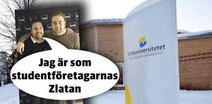 Johan Wikström tillsammans med vice vd:n Thomas Jonasson.