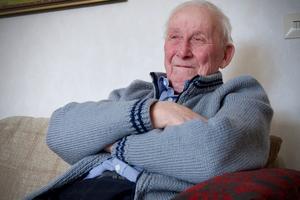 Olof R Olofsson, 91 år, har nyligen flyttat till Funäsdalen och fått sin första semester.