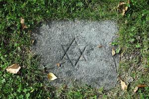 Anonym liten grav på judiska begravningsplatsen. Är det kanske ett barn som begravts här?