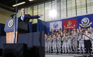 President Barack Obama talade på onsdagen på US Central Command (CENTCOM) vid MacDill Air Force Base i Tampa, Florida. Obama rådfrågade militärofficierare om USA:s antiterroristkampanj mot Islamiska staten (IS)