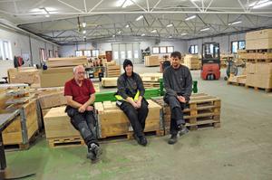 Lorentz Gilliam, Malin Pettersson och Stefan Svensson är alla med i den lokala fackklubben av GS-facket. De tycker att företaget tagit i för mycket med uppsägningarna och är bekymrade över framtiden i Sandbyfabriken.