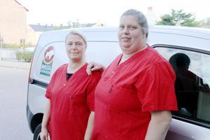 Schemat som kräver 85 procent brukartid var en av anledningar till att skyddsombuden Anne Axelsson och Jessica Wallin slagit larm om en orimligt stressig arbetssituation.