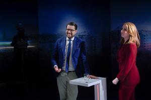 Jimmie Åkesson (SD) och Annie Lööf (C), valets två tydligaste motpoler.