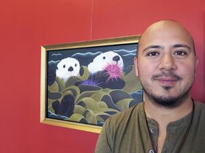 Vincent Persson debuterar med havsdjursmåleri på Galleri Brynästorget.